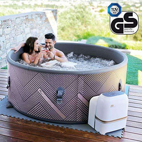 Miweba MSpa aufblasbarer Whirlpool Concept Mono C-MO069 Outdoor – Ultradünn – für 6 Personen - 138 Düsen - 173 x 65 cm - Tüv GS geprüft - 930 Liter - Pool aufblasbar