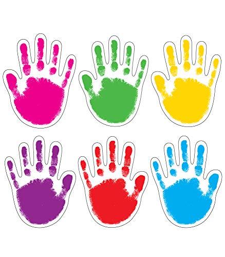 Carson Dellosa – Handprints Colorful Cut-Outs, Classroom Décor, 42 Pieces