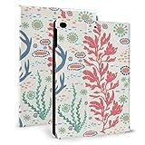 WYYWCY Funda para iPad para Mujer Sea Creature Corals Seaweed iPad Funda Impermeable para iPad Mini 4 / Mini 5/2018 6th / 2017 5th / Air/Air 2 con Auto Wake/Sleep Magnetic Fun iPad Cover