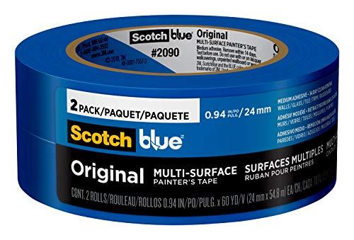 """Scotch Painter's Tape 2090-24CC2 Original Multi-Surface Painter's Tape, 0.94"""" Width, Blue"""