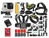 GoPro Hero 3 Silver Edition with 40 Pcs Extreme Sports Kit Bundle Set