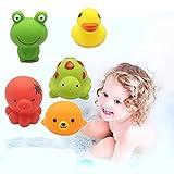 Jouets de bain Cadeau pour Bébés,Morbuy Jeu de Bain Gicleurs Bébé Lot de 5 pièces (Animal x 5)