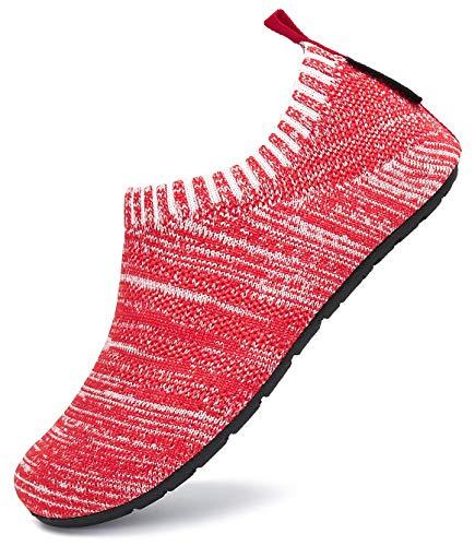 SAGUARO Zapatillas de Estar por Casa para Niños Zapatillas Casa Niñas Zapatos Infantiles Bebé Caminan Zapatillas Suela Antideslizante Suave Rojo Gr.32/33