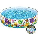 Qazxsw Piscina de plástico Duro/Piscina Inflable Plegable/Piscina para niños/Piscina de baño/Piscina de Arena/Piscina floreciente