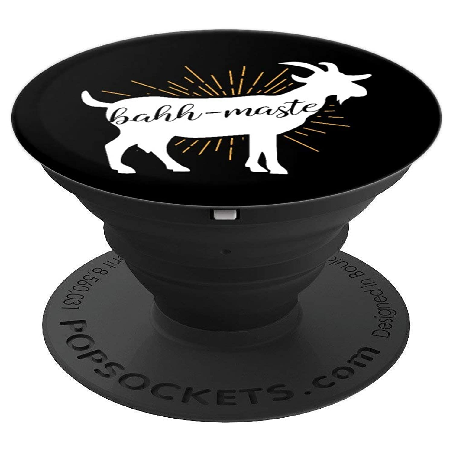 Bahh-Maste Goat Yoga Namaste Pun Shirt Gift Men and Women - PopSockets Grip and Stand for Phones and Tablets
