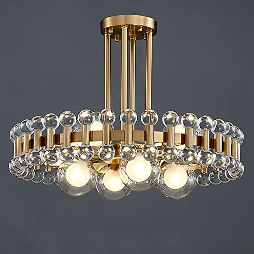 Lampadario a soffitto, Arrivati Cristalli Moderni lampadario per Soggiorno Decorazione della casa Oro Tondo Cucina appuntamento colorato Lampada a Sospensione in Pietra