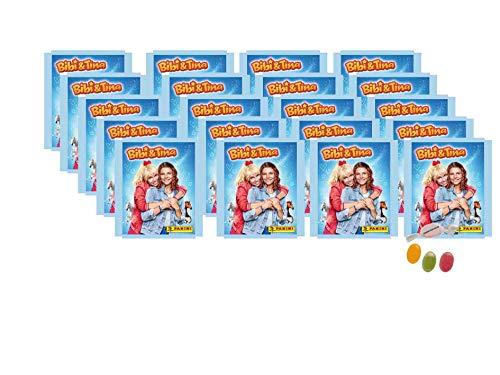 Panini Bibi & Tina Sticker (2020) Sammelsticker - 20 x Tüten ( je 5 Sticker) zusätzlich erhalten Sie 1 x Fruchtmix Sticker-und-co Bonbon
