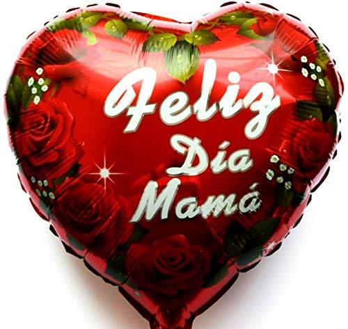 SauParty Helio Globo Día de la Madre Rosas Regalo Corazón Feliz Dia Mama Amor