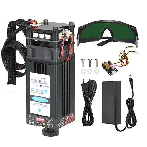 KKmoon Kit modulo la*ser Kit modulo laser TTL Modulo di taglio testa la*ser per Engaver La*ser Fresatrice CNC Router per Legno Stampante 3D Cavo 2 PIN 3 PIN e alimentatore incluso