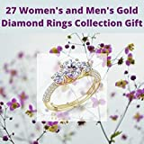 27 Women's and Men's Gold Diamond Rings: wedding jewelry Collection (English Edition)
