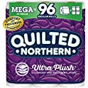 24 Mega (96 Regular) Rolls of Quilted Northern Ultra PlushToilet Paper