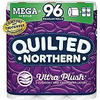 24 Mega (96 Regular) Rolls of Quilted Northern Ultra PlushToilet Paper