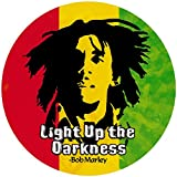 Peace Resource Project Light Up The Darkness - Bob Marley - Small Bumper Sticker/Decal (3.25' Circular)