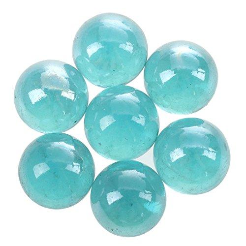 TOOGOO(R) Murmeln 16mm Glasmurmeln Knicker Glaskugeln Deko Farb-Nuggets Spielzeug hellblau