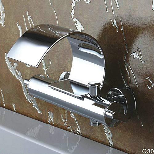 Q3025W de montaje en pared grifo de la bañera Dos Cristal Asas de bañera Mezclador de ducha grifo de la bañera grifo de la ducha, blanca