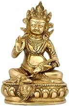 Red Bag Golden Brass Kuber Statue (7.25 X 5X 4 Inch)