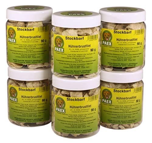 PAEX Stockbarf Hühnerbrustfilet, gefriergetrocknet, Hundefutter, 540 g