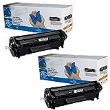 toner-mero - Tóner para HP Laserjet 1010 1012 1015 1018 1020 1022 3015 3020 3030 3050 3052 3055, color Negro 2x Toner