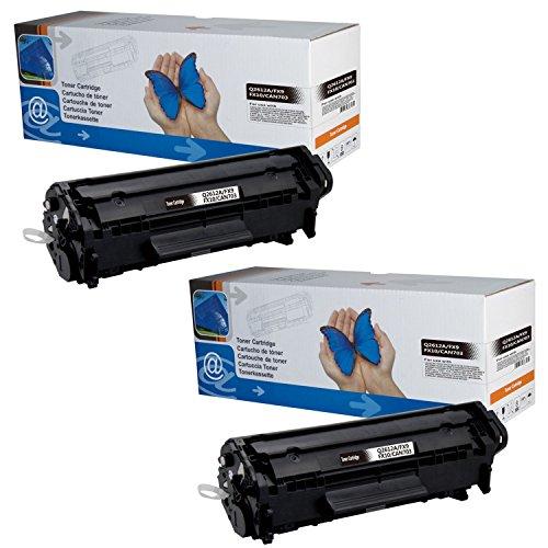 2x Toner ersetzt HP Laserjet Q2612a 12A M1005MFP M1319F MFP 1010 1012 1015 1018 1020 1022 3015 3020 3030 3050 3052 3055 Canon LBP2900 LBP2900i - Black 2.000 Seiten