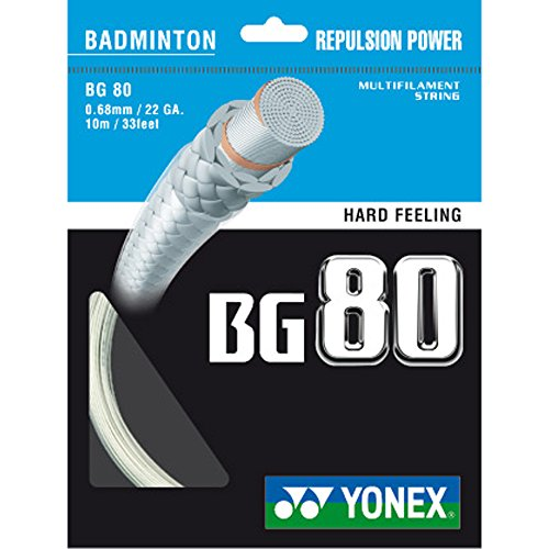 Yonex BG 80 Cordage pour raquette de badminton...