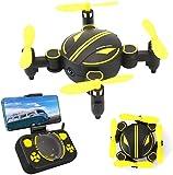 Rabing - Mini Drone RC Pliable FPV RV WiFi - Quatre hélices, avec télécommande et caméra HD 720p...
