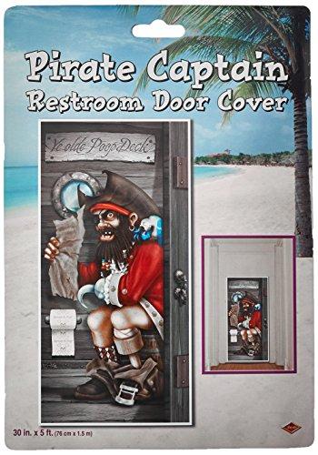 Beistle 57086 Pirate Captain Restroom Door Cover, 30-Inch by 5-F