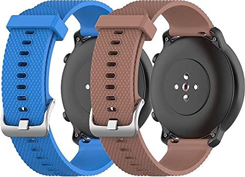 Gransho Pulseira de Relógio compatível com Fossil Gen 5 / Gen 5E (44MM) / Gen 4 Explorist HR (45MM), Pulseira de Reposição Esportiva Estreita de Silicone Macio Para Relógio Inteligente (22mm, Pattern 2+Pattern 3)