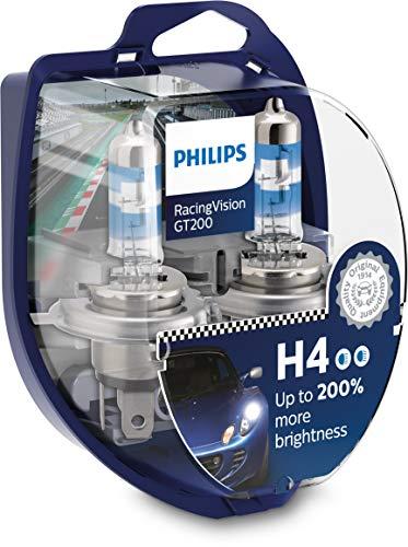 Philips H4 RacingVision GT200 60/55 Watt 12 Volt P43t-38 12342RGTS2 (2 Stück)