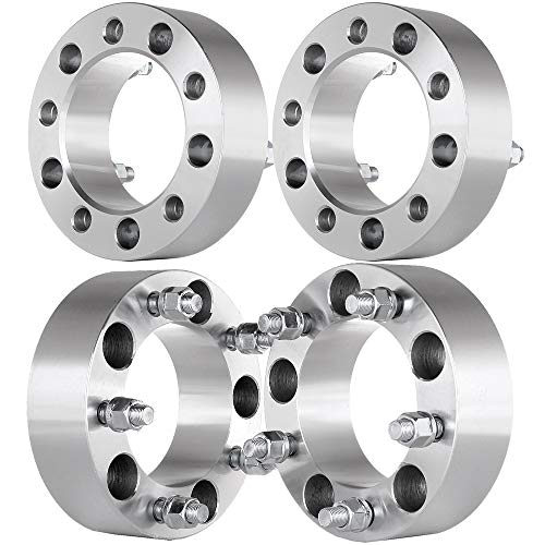 "ECCPP 5x5.5 to 5x5.5 Wheel Spacers 50mm (4) 2"" 5x139.7mm to 5x139.7mm 108mm fits for Dodge Ram 1500 Ford F150 E150 Econoline Bronco Jeep CJ3 CJ5 CJ6 CJ7 with 1/2"" Studs"