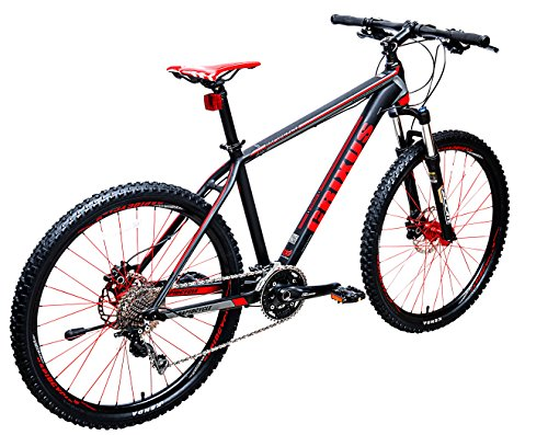 Buy RapidCycle Crixus Shimano Deore Shadow Aluminum Hard Tail 27.5 Wheel Mountain Bike, Red, 18/Me...