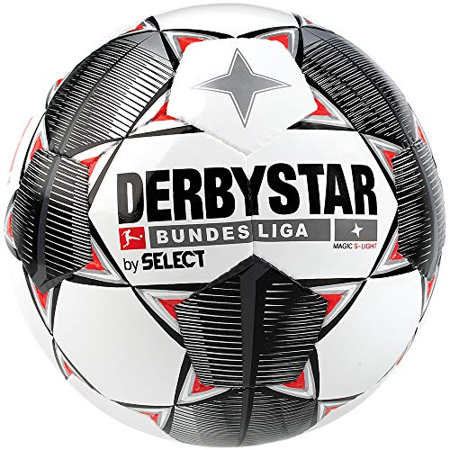 Derbystar Kinder Bundesliga Magic S-Light Fußball, weiß schwarz rot, 3