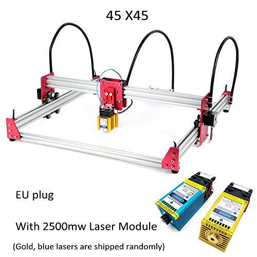 Máquina de grabado láser 45 * 45 CM Desktop Mini USB Máquina de grabado láser CNC DIY Grabador de impresora láser With 2500 MW Laser
