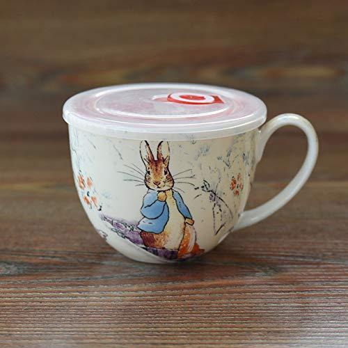 HSXOT 700 ml Desayuno Taza de café Grande Lindo de Dibujos Animados Anime Taza...