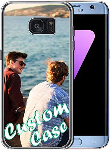Diseña tu propia funda de teléfono TPU transparente para Samsung Galaxy S7 Edge Custom Case con 1 protector de pantalla (transparente)