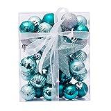 Morbuy 30pc Bolas de Navidad 6 cm Colgante de Pared Bolas de árbol de Navidad Adorno de Pared, Árbol Decorativas Boda de Fiesta Suministro Hogar Decoraciones para Festivales (Verde Oscuro)