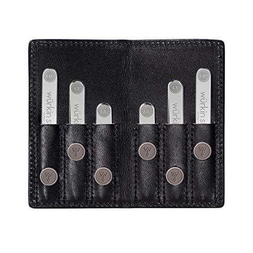 Wurkin Stiffs Power Stays Travel Set - Black Leather Wallet - TSA Friendly