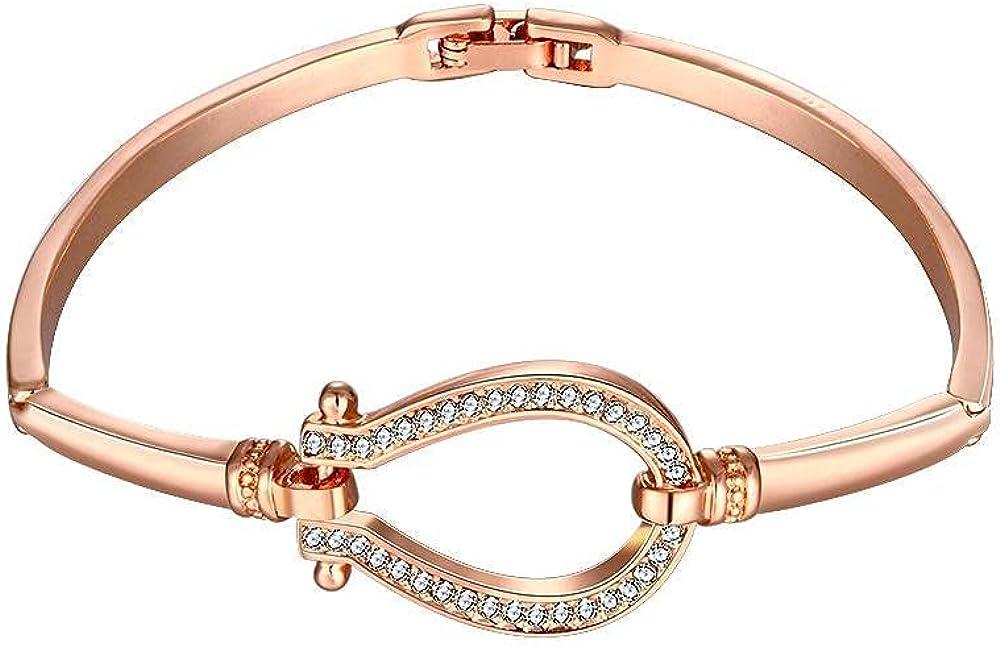 Epinal 18K Rose Gold Plated Bracelet Made with Crystals