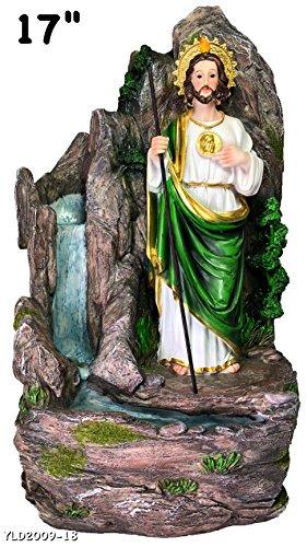 San Judas Water Fountain Statue 18' Inch Water Pump Religious Figure