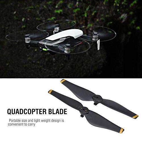 Dilwe 2 Paar RC-Drohnenpropeller, CW CCW-Schnellwechselpropeller Quadcopter-Blattzubehör Kompatibel mit Mavic Air Drone(Goldstreifen)