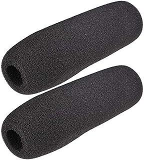 na - 2 Fundas de Espuma para micrófono, protección contra el Viento, Color Negro 159 mm de Largo