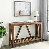Walker Edison Furniture Modern Farmhouse Accent Entryway Table, 52 Inch - Rustic Oak