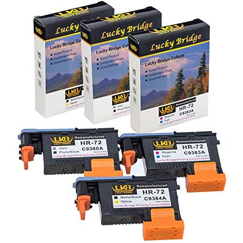 Lucky Bridge HP72 Testina di stampa rigenerata 3PK (G PK MK Y M C) C9380A C9383A C9384A compatibile per HP T1100 T790 T770 T60 T1300