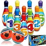 STAY GENT Bolos Infantiles Juego de Bolos, Suave Set de Bolos Bowling con 10 Bolos y 2 Bolas, Juguetes Bolos Infantil de Exterior y Interior, Regalos Educativos para Niños Niñas Bebés 3 4 5 6 7 años