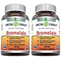 Amazing Formulas Bromelain 500 mg,2400 GDU Veggie Capsules - (Non-GMO, Gluten Free) Proteolytic Enzymes-Supports Dijestion of Proteins-Anti-Inflammatory Properties