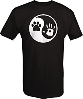 OS Gear Paw Hand Print Yin Yang Dog Animal Rescue Adopted Pet Lover T Shirt