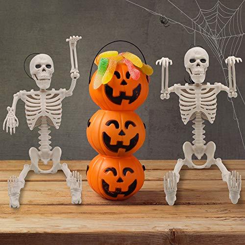 JOYIN 2 Pack 40.6 cm Halloween Scheletri Posabili Scheletri di Articolazioni da Posare per Tutto Il Corpo per la Decorazione di Halloween, Decorazioni per cimitero, Accessori per la casa stregata
