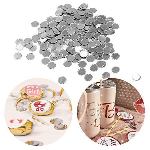 Oblique-Unique® Konfetti Silber rund Tisch Konfetti mit Spiegeleffekt für Hochzeit Geburtstag Feier Jubiläum Deko über 300 STK.