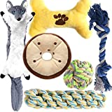 Dog Toys, Dog Chew Toys Teething Toys for Small Medium Puppy, No Stuffing and Stuffing Squeaky Toys,Rope Toys for Puppy 6 PCS