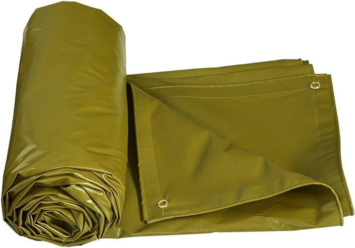 ZLL Baches extérieures Imperméables et résistantes Baches Bache de prougeection solaire Bache anti-age Baches anti-age Sun Shed tissu de pluie 500G   M2, jaune armée,6 × 4M