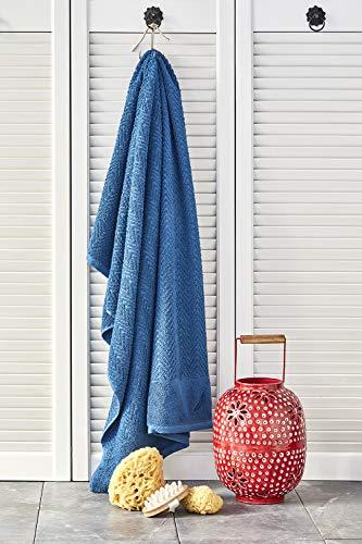 Nautica Zigzag - Asciugamano da bagno, 100% cotone, 70 x 140 cm, morbido, durevole